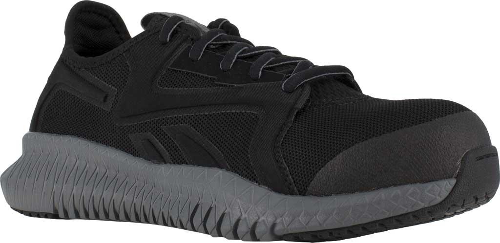 Women's Reebok Work RB464 Flexagon 3.0 Composite Toe Work Shoe, Black/Grey Nylon/Mesh, large, image 1