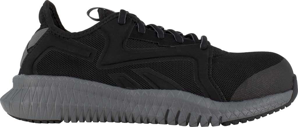 Women's Reebok Work RB464 Flexagon 3.0 Composite Toe Work Shoe, Black/Grey Nylon/Mesh, large, image 2