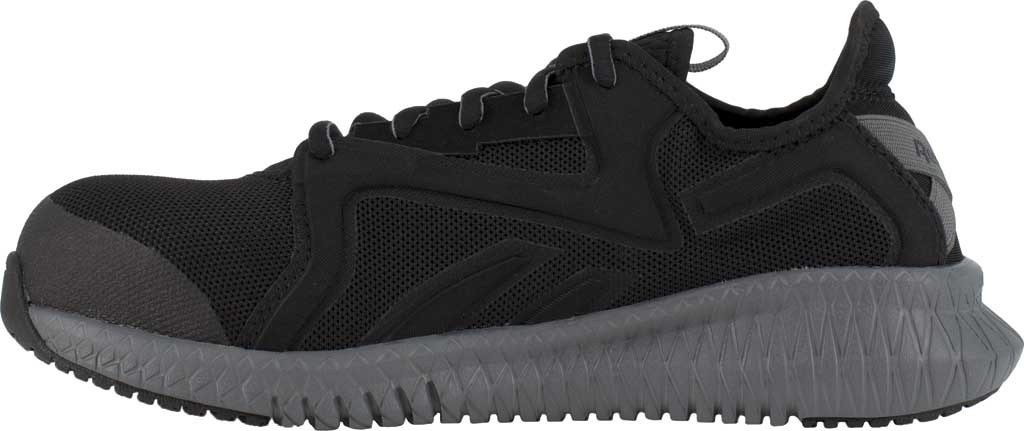 Women's Reebok Work RB464 Flexagon 3.0 Composite Toe Work Shoe, Black/Grey Nylon/Mesh, large, image 3