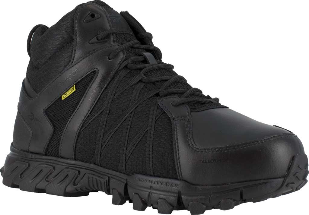 Men's Reebok Work RB3405 Trailgrip Alloy Toe Work Shoe, Black Microfiber/Mesh, large, image 1