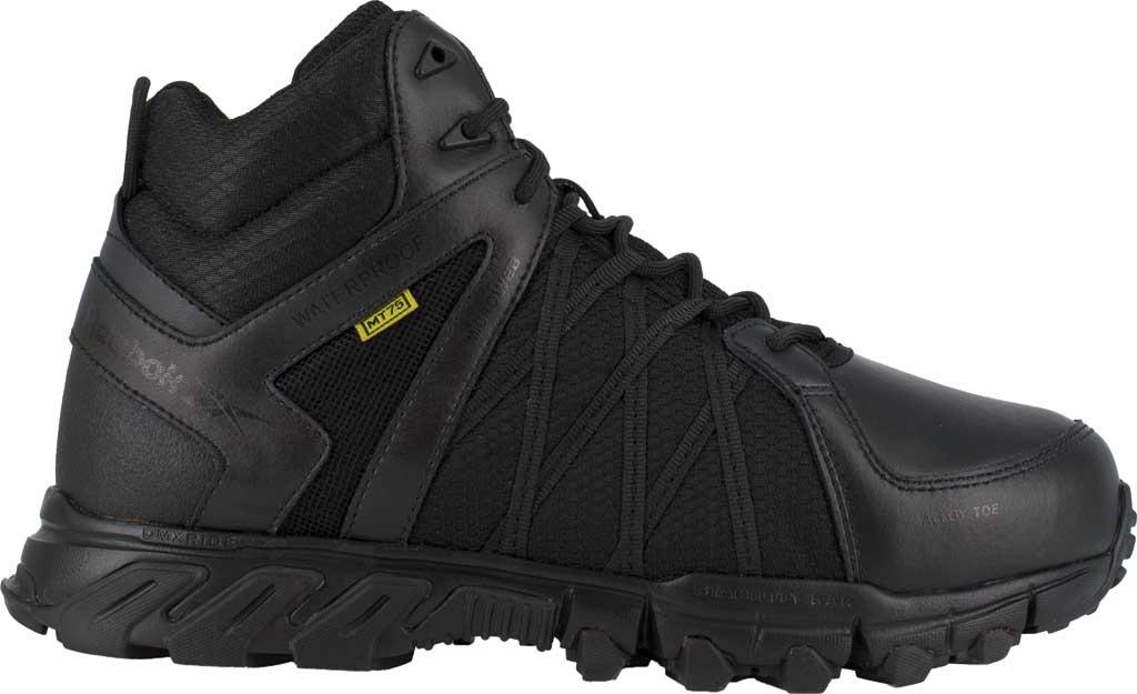 Men's Reebok Work RB3405 Trailgrip Alloy Toe Work Shoe, Black Microfiber/Mesh, large, image 2