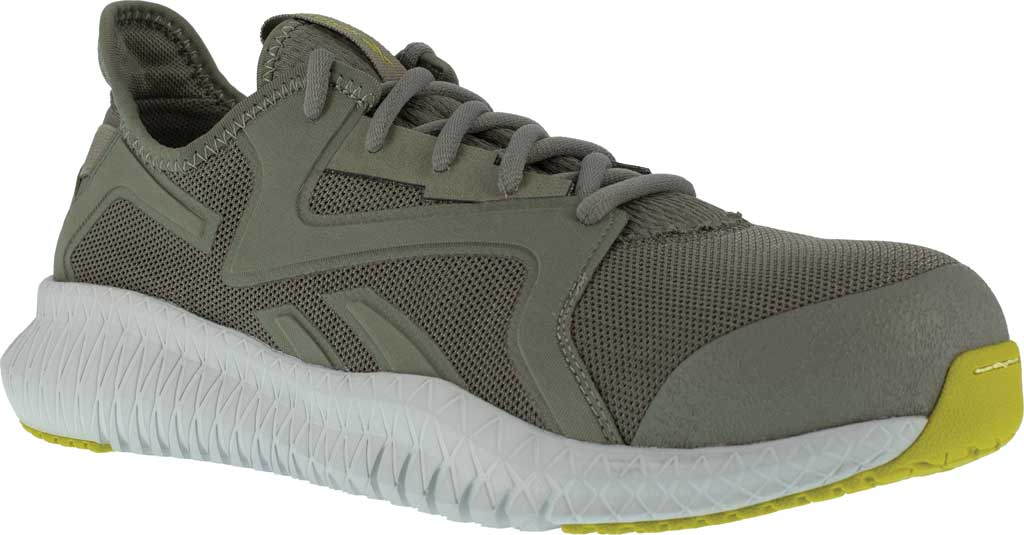 Men's Reebok Work RB4063 Flexagon 3.0 Composite Toe Work Shoe, Lime/Grey Nylon/Mesh, large, image 1