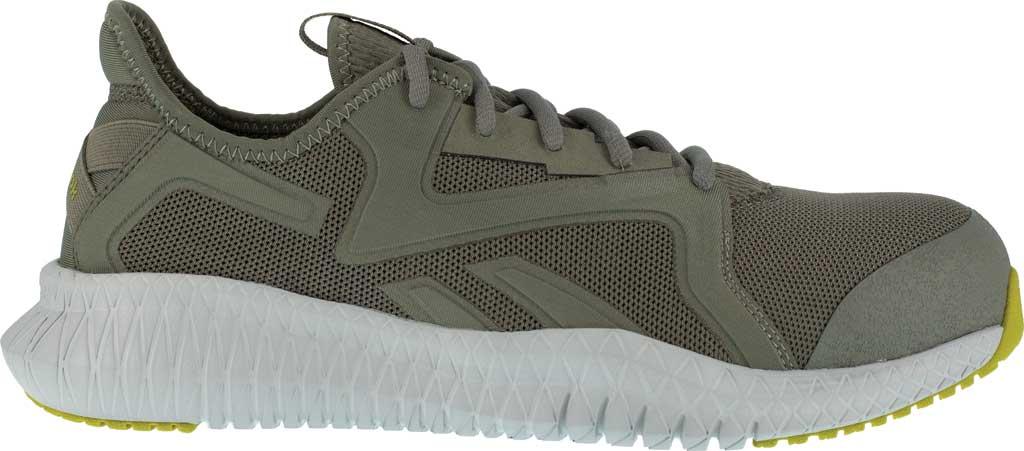 Men's Reebok Work RB4063 Flexagon 3.0 Composite Toe Work Shoe, Lime/Grey Nylon/Mesh, large, image 2