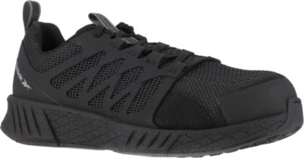 Men's Reebok Work RB4317 Fusion Flexweave Work Shoe, Black Knit, large, image 1