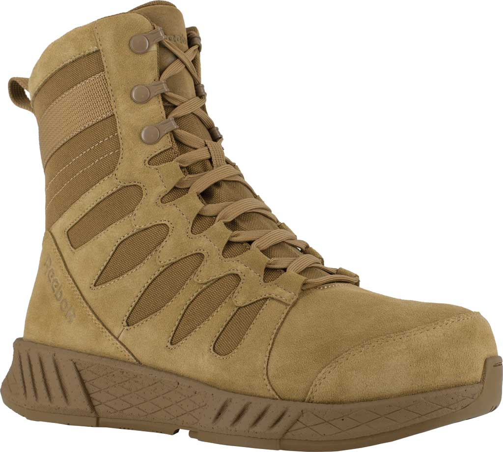 Men's Reebok Work RB4360 Floatride Energy Tactical Safety Toe Boot, Coyote Cattle Hide Leather/Ballistic Nylon, large, image 1