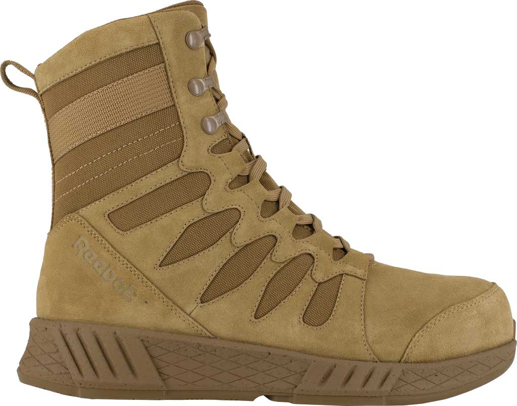 Men's Reebok Work RB4360 Floatride Energy Tactical Safety Toe Boot, Coyote Cattle Hide Leather/Ballistic Nylon, large, image 2