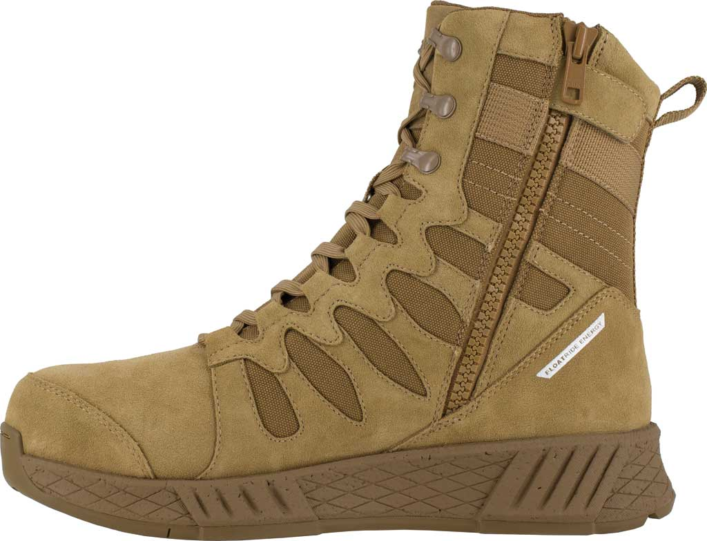 Men's Reebok Work RB4360 Floatride Energy Tactical Safety Toe Boot, Coyote Cattle Hide Leather/Ballistic Nylon, large, image 3