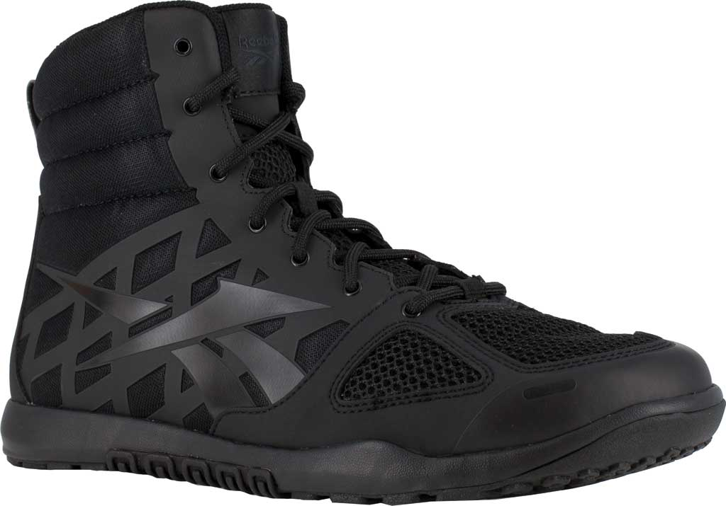 Men's Reebok Work RB7120 Nano Tactical Work Boot, Black Microfiber/Mesh, large, image 1