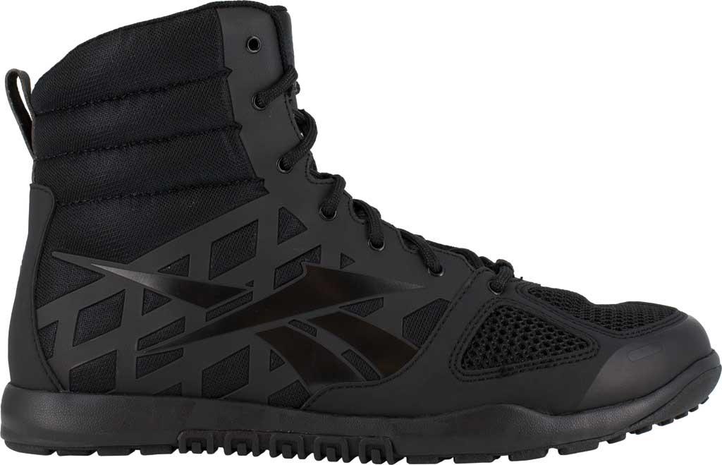 Men's Reebok Work RB7120 Nano Tactical Work Boot, Black Microfiber/Mesh, large, image 2