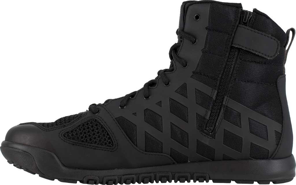 Men's Reebok Work RB7120 Nano Tactical Work Boot, Black Microfiber/Mesh, large, image 3