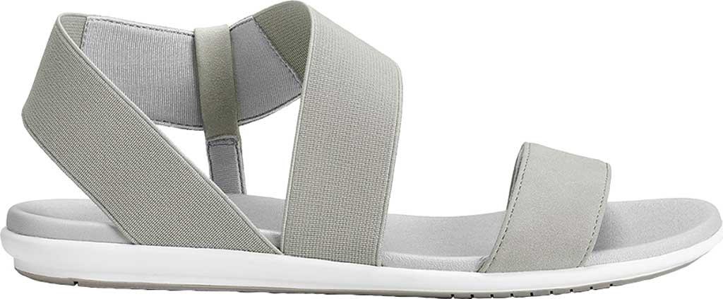 Women's Aerosoles Watch Box Flat Sandal, Grey Faux Leather/Elastic, large, image 2
