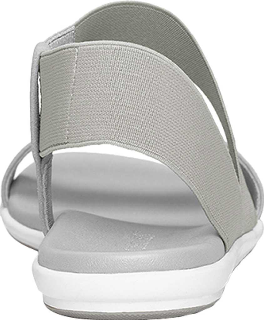 Women's Aerosoles Watch Box Flat Sandal, Grey Faux Leather/Elastic, large, image 4