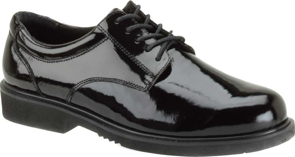 Thorogood Poromeric Academy Oxford Work Shoe 831-6031, Black Poromeric, large, image 1