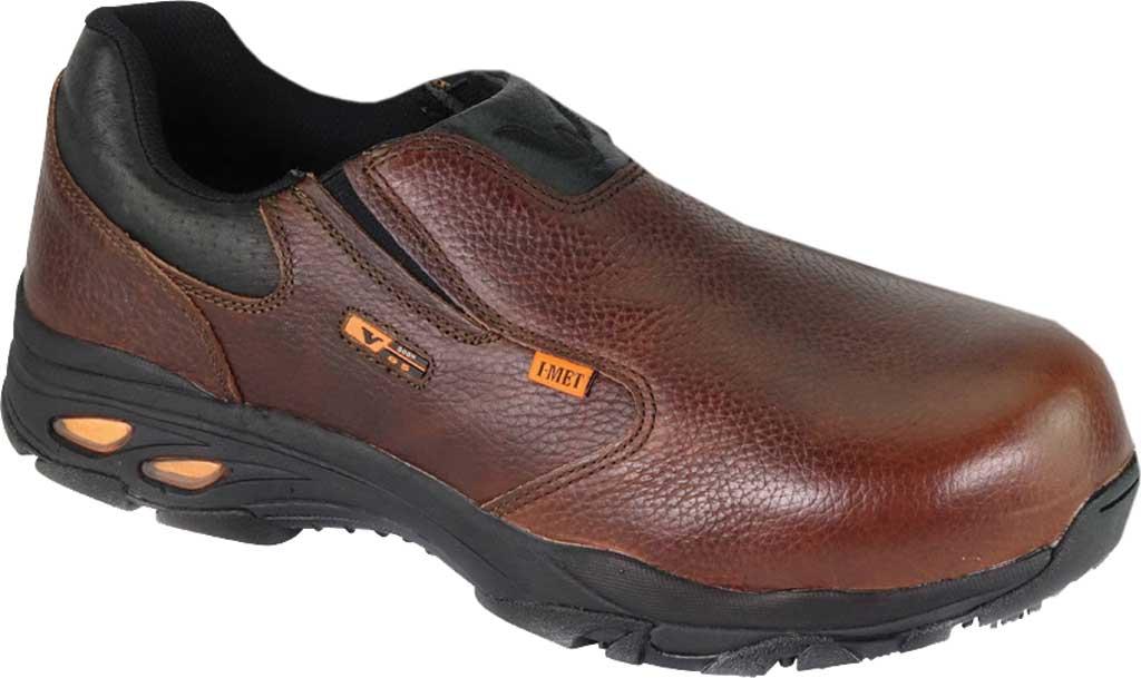 Thorogood I-Met Slip On Work Shoe 804-4320, Brown Full Grain Leather, large, image 1