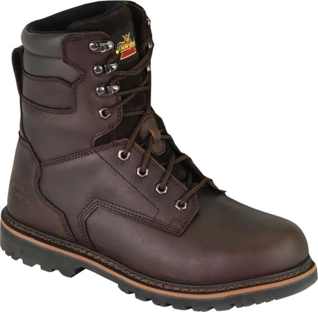 """Thorogood 8"""" Safety Steel Toe Boot 804-4279, Brown Oiled Nubuck, large, image 1"""
