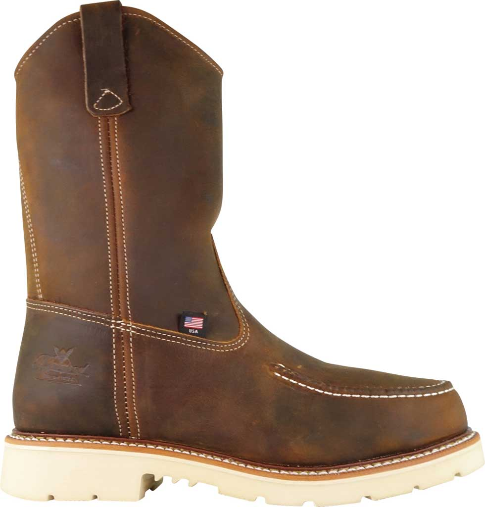 "Men's Thorogood 11"" Moc Toe Wellington Boot 804-3311, Crazy Horse Full Grain Leather, large, image 2"