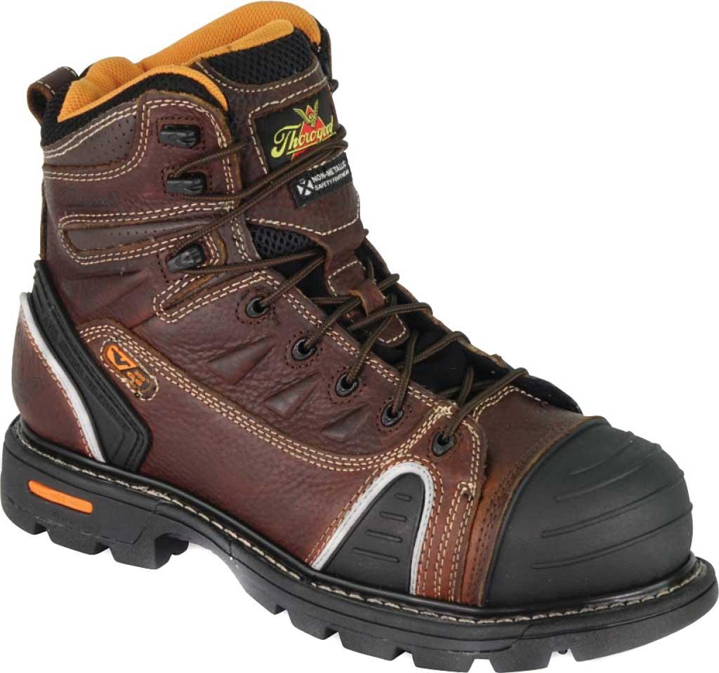 "Men's Thorogood 6"" Gen-Flex2 Composite Toe Boot 804-4445, Brown Full Grain Leather, large, image 1"