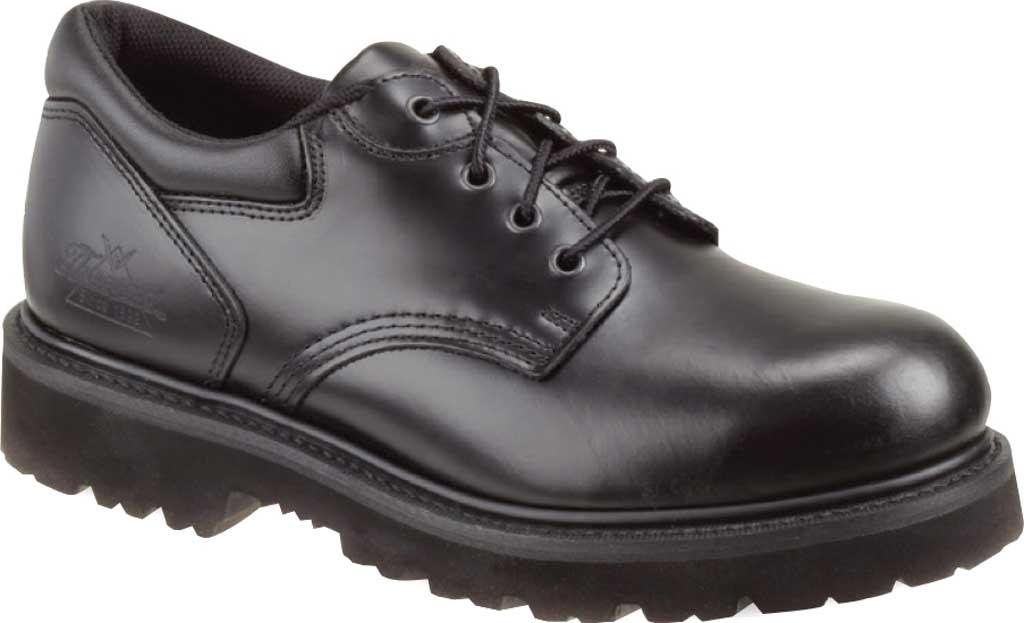 Thorogood Oxford Safety Steel Toe Work Shoe 804-6449, Black Leather, large, image 1