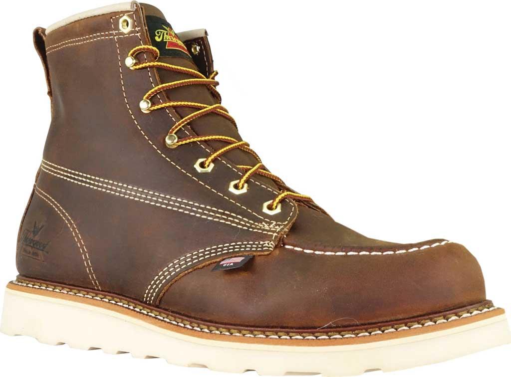 "Men's Thorogood 6"" Moc Toe Wedge Combat Boot 814-4203, Trail Crazy Horse Full Grain Leather, large, image 1"