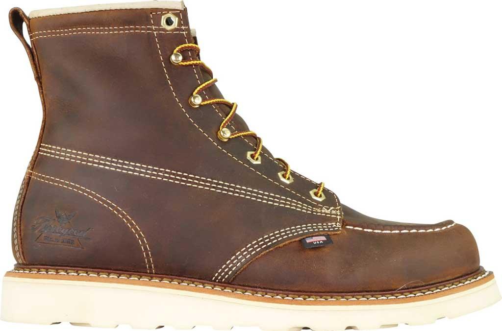 "Men's Thorogood 6"" Moc Toe Wedge Combat Boot 814-4203, Trail Crazy Horse Full Grain Leather, large, image 2"