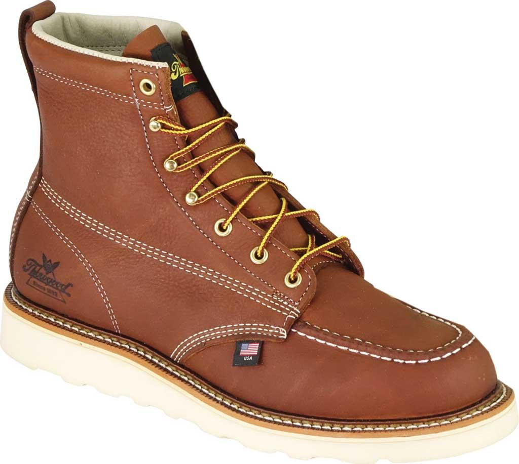 "Men's Thorogood 6"" Moc Toe Wedge Boot 814-4200, Tobacco Full Grain Leather, large, image 1"