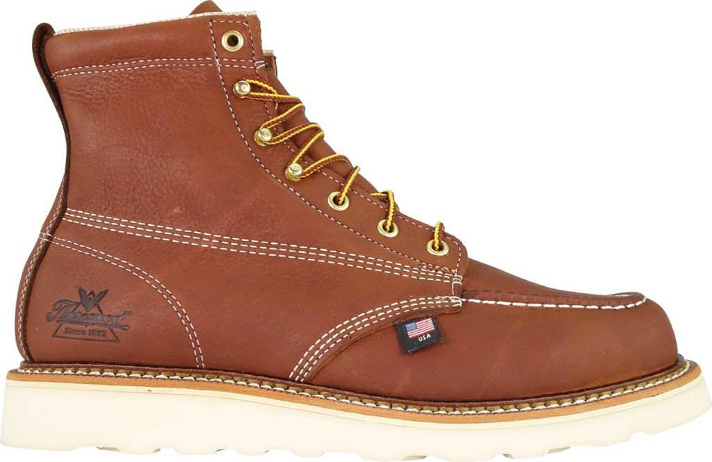 "Men's Thorogood 6"" Moc Toe Wedge Boot 814-4200, Tobacco Full Grain Leather, large, image 2"