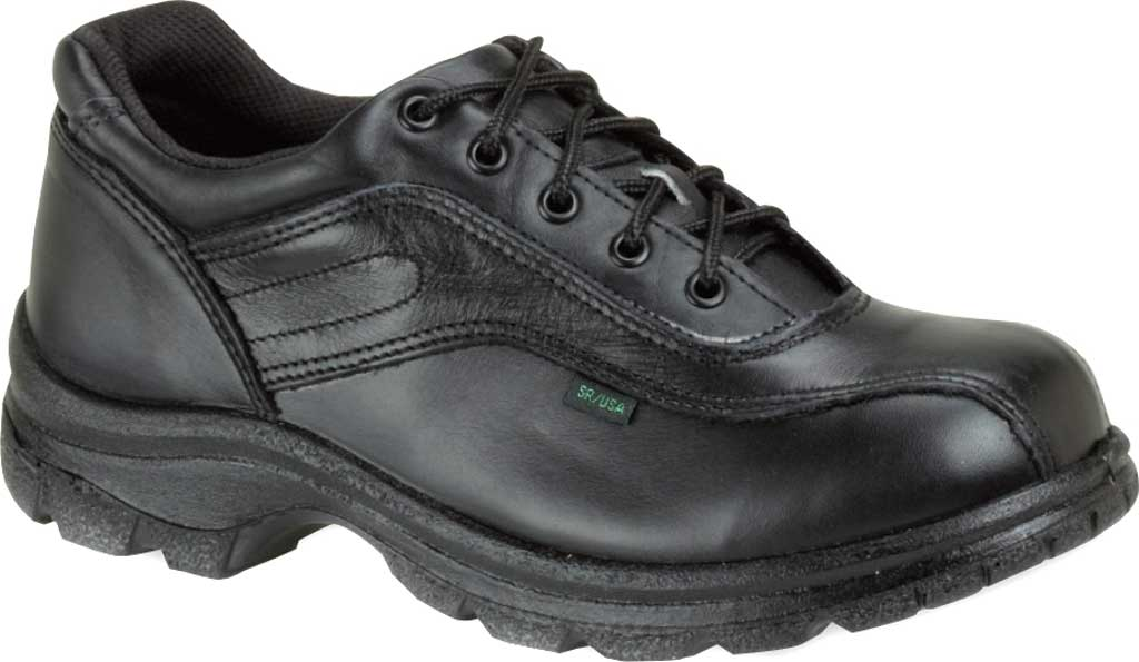 Women's Thorogood Double Track Oxford Work Shoe 534-6908, Black Full Grain Leather, large, image 1
