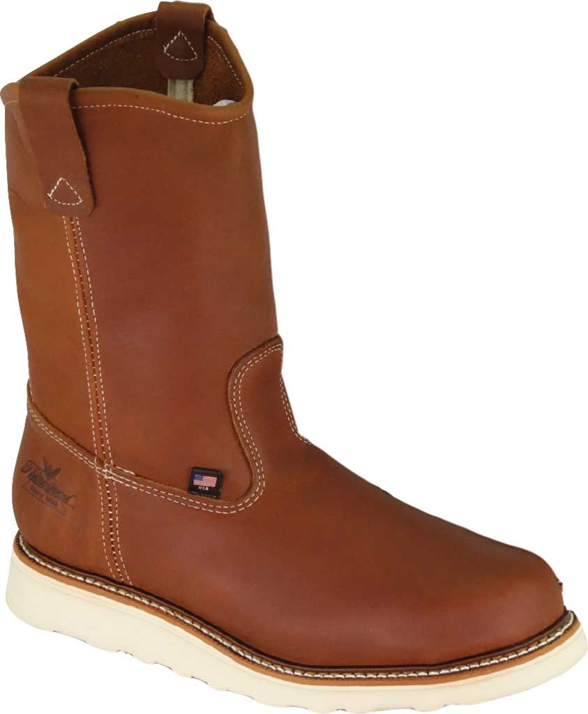 "Men's Thorogood 11"" Wellington Boot 814-4208, Tobacco Full Grain Leather, large, image 1"