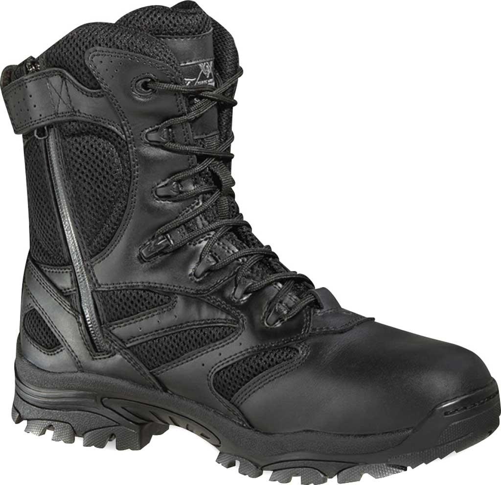 "Thorogood 8"" Deuce Composite Toe Tactical Boot 804-6191, Black Full Grain Leather/Mesh, large, image 1"