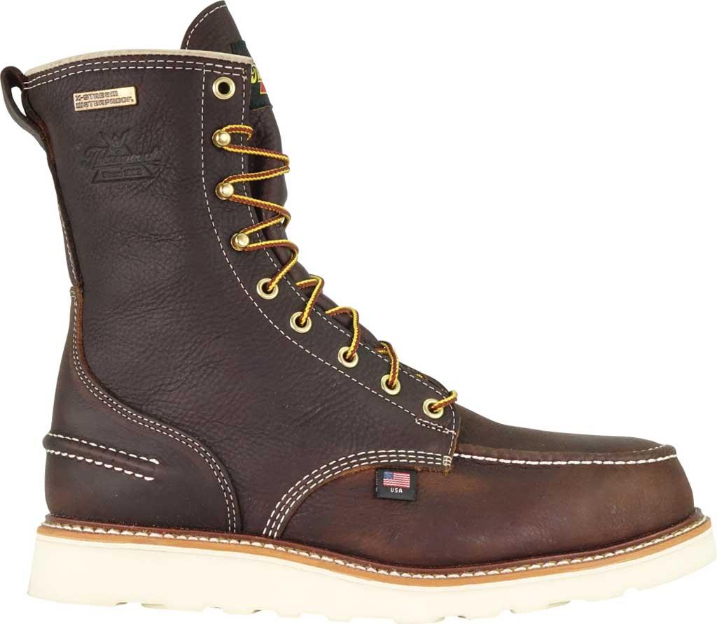"Men's Thorogood 8"" 1957 Moc Toe Combat Boot 804-3800, Briar Pitstop Full Grain Leather, large, image 2"