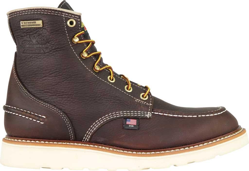"Men's Thorogood 1957 6"" Moc Toe Combat Boot 814-3600, Briar Pitstop Full Grain Leather, large, image 2"