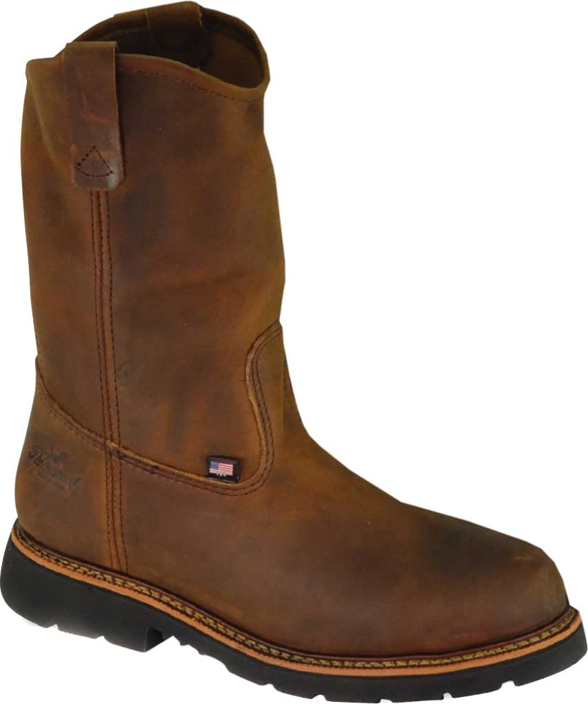 "Men's Thorogood 11"" Wellington Steel Toe Boot 804-3310, Trail Crazy Horse Full Grain Leather, large, image 1"