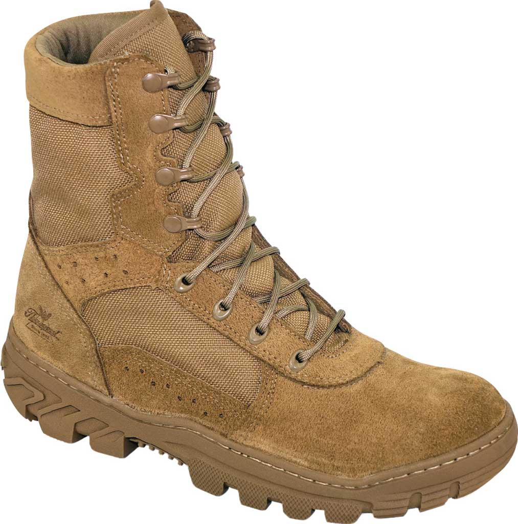 Men's Thorogood War Fighter Tactical & Military Boot 813-8800, Tan Leather/Cordura, large, image 1