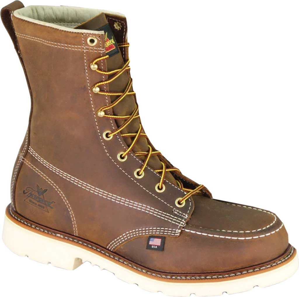 Men's Thorogood 8 Inch Steel Toe Boot 804-4378, Trail Crazy Horse Full Grain Leather, large, image 1