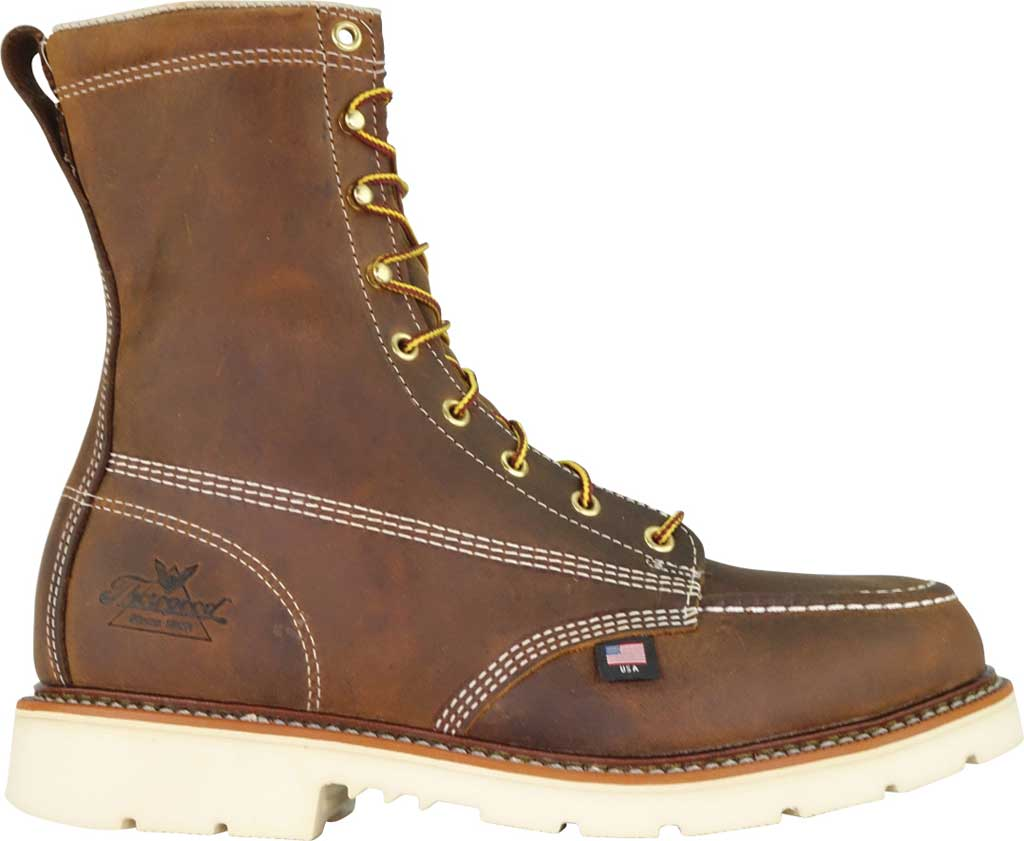 Men's Thorogood 8 Inch Steel Toe Boot 804-4378, Trail Crazy Horse Full Grain Leather, large, image 2