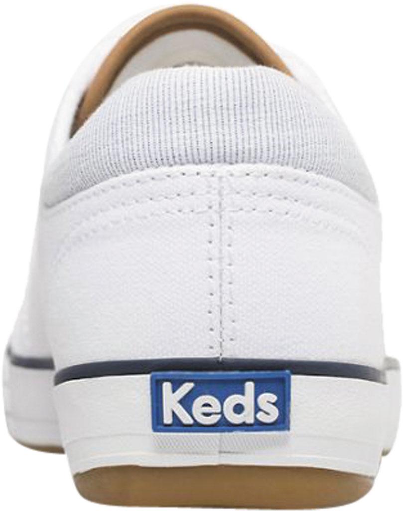 Women's Keds Center II Canvas Stripe Sneaker, White Canvas, large, image 3