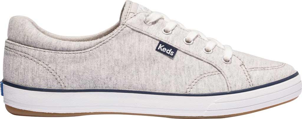 Women's Keds Center II Jersey Sneaker, Grey Jersey, large, image 2