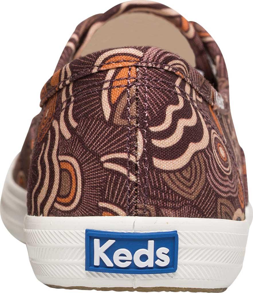 Women's Keds Champion Organic Cotton Ripple Floral Sneaker, Burgundy Organic Cotton, large, image 4