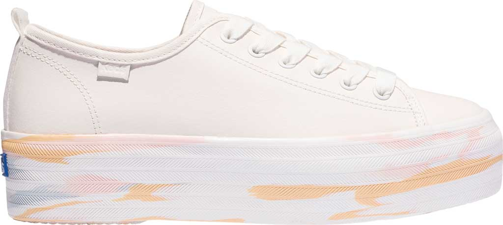 Women's Keds Triple Up Leather Marble Platform Sneaker, Snow White/Marble Leather, large, image 1