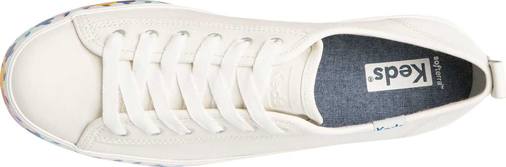Women's Keds Triple Up Leather Rainbow People Platform Sneaker, White Multi Leather, large, image 5