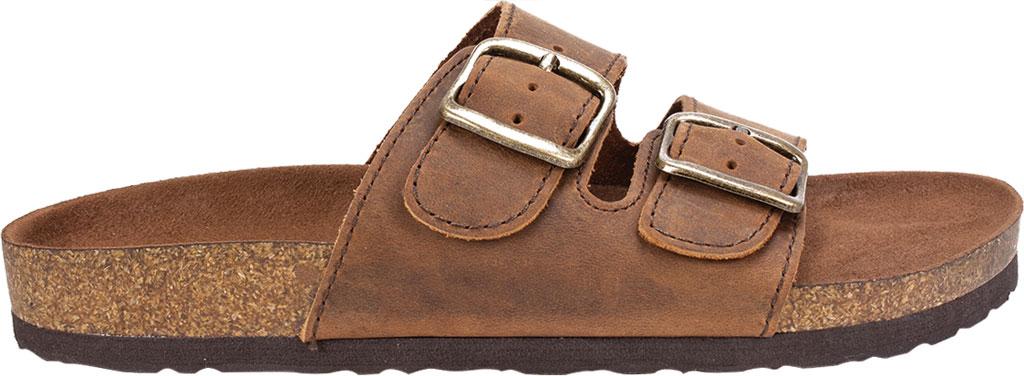 Women's White Mountain Helga Slide Sandal, Brown Leather, large, image 2