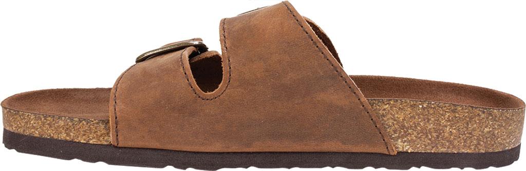 Women's White Mountain Helga Slide Sandal, Brown Leather, large, image 3