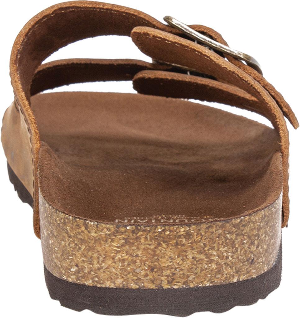 Women's White Mountain Helga Slide Sandal, Brown Leather, large, image 4