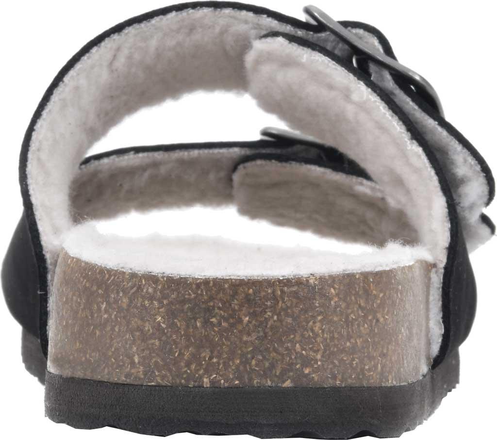 Women's White Mountain Helga Slide Sandal, Black Nubuck/Faux Shearling, large, image 4