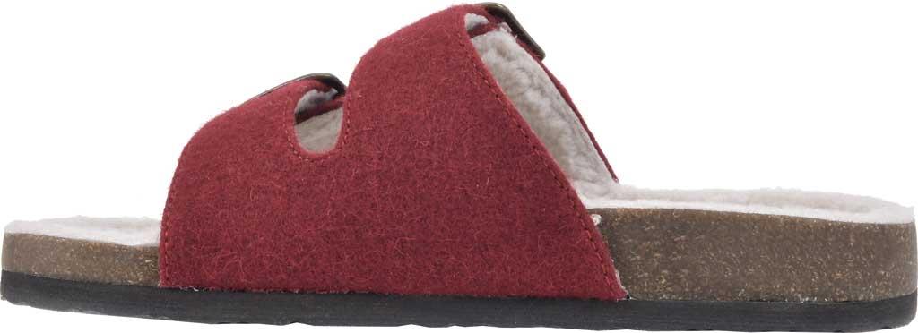 Women's White Mountain Helga Slide Sandal, Winter Red Felt/Faux Shearling, large, image 3
