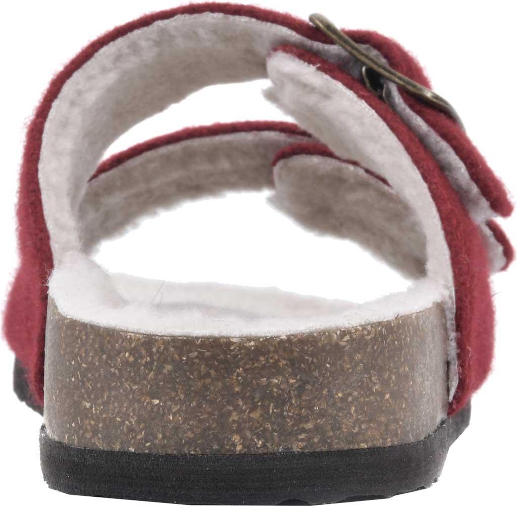 Women's White Mountain Helga Slide Sandal, Winter Red Felt/Faux Shearling, large, image 4