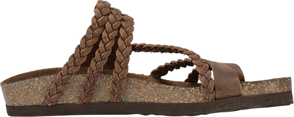 Women's White Mountain Hayleigh Toe Loop Sandal, Brown Leather, large, image 2