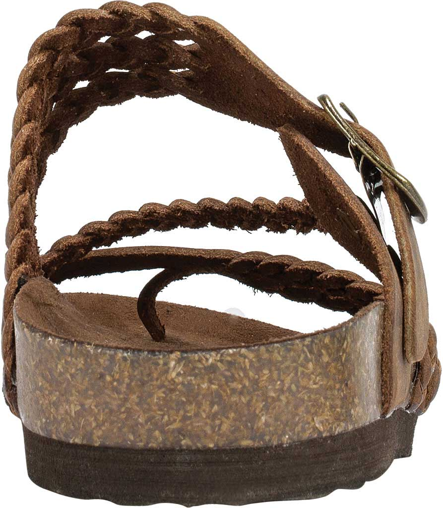 Women's White Mountain Hayleigh Toe Loop Sandal, Brown Leather, large, image 4