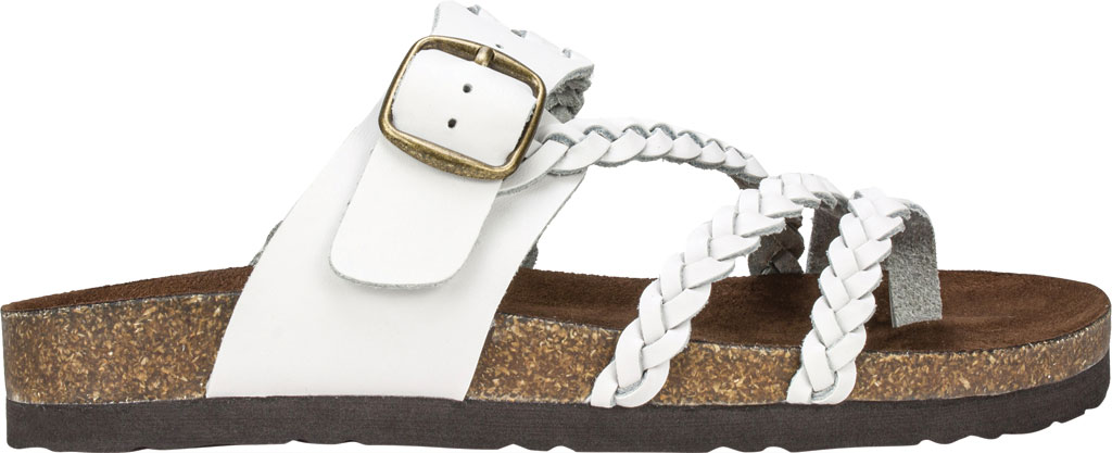 Women's White Mountain Hayleigh Toe Loop Sandal, White Leather, large, image 2