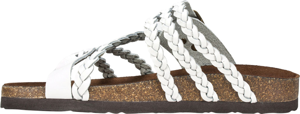 Women's White Mountain Hayleigh Toe Loop Sandal, White Leather, large, image 3